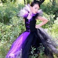 0 Profit Maleficent Tutu Dress Party Costume Girls Clothing Evil Queen Dress Rainbow Colored Dress Tutu