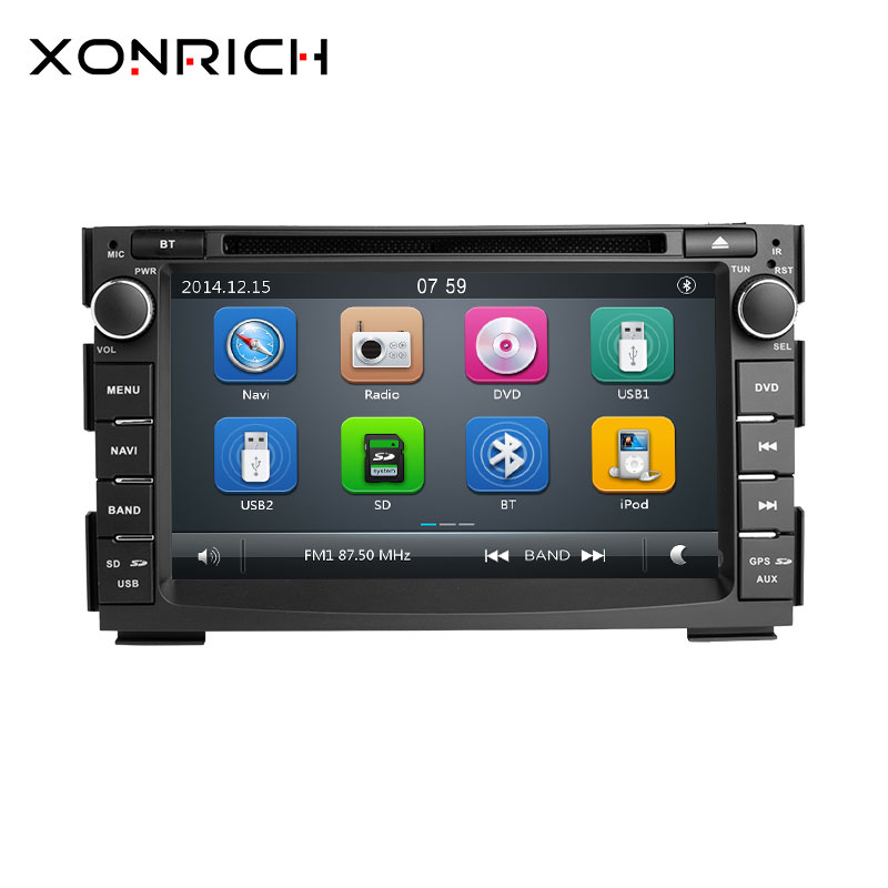 2 Дин Радио DVD плеер автомобиля Мультимедиа для Kia Ceed 2010 2011 2012 Venga gps ГЛОНАСС навигации аудио стерео головное устройство