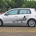 2 pçs/set adesivos de carro e decalques flor borboleta universal porta personalizado gráficos para bmw vw ford toyota honda kia carro styling