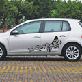 2pcs/set Car Stickers and Decals Flower Butterfly Universal Custom Door Graphics For BMW VW Ford Toyota Honda Kia Car Styling