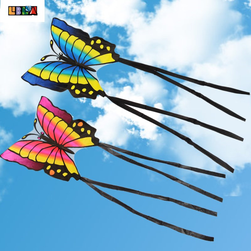 LBLA 1Pc Outdoor Butterfly Foldable Children Kite Easy To Fly Chemical Fiber Cloth Red Blue Gift Funny Sport Playing ToysLBLA 1Pc Outdoor Butterfly Foldable Children Kite Easy To Fly Chemical Fiber Cloth Red Blue Gift Funny Sport Playing Toys