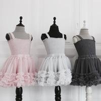 Girls Cute Tutu Skirts Fluffy 2 8 Years Chiffon Solid Color Pettiskirt Baby Dance Skirt Christmas