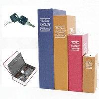Security Simulation Dictionary Book Case Home Cash Money Jewelry Locker Secret Safe Storage Box With Key