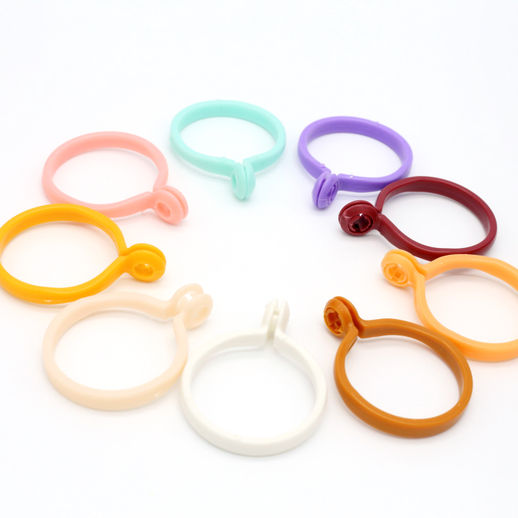 30PCS/Lot Plastic Curtain Hanging Rings Curtain Accessory Window Shower Curtain Rings Hanging Clamp Ring Roman Rod Ring Buckle