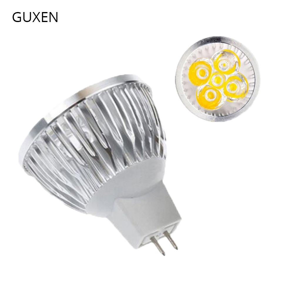 GUXEN Dimmable led light 9W 12W 15W led lamp MR16 12V led bulbs 2 years warranty free shipping 10pcs/lot 5pcs lot free shipping e27 12w 12 1w par 38 led bulb lamp light 85 256v with 12 leds light warranty 2 years ce