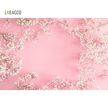 Laeacco Pink Flowers Petal Spring Baby Newborn Baby Shower Portrait Photo Backgrounds Photography Backdrops Photo Studio rainbow sky gold stars unicorn baby shower custom photo backdrops pink photography studio background 7x5ft