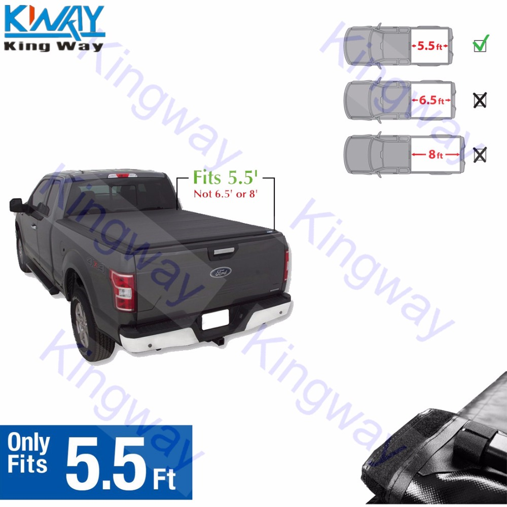 Tonneau Cover 2015-2019 Ford F150 5.5ft Short Box Tri-Fold Cover Soft Bed Cover