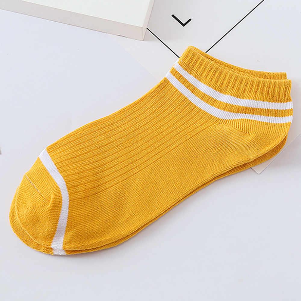 Calcetines 1 par de Calcetines de algodón cómodos de rayas Unisex zapatillas de tobillo corto Calcetines Popsocket Calcetines lindos Skarpetki Calcetines # CE25