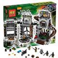 888 шт. Бела 10278 Оригинальной Коробке Подарки Набор Teenage Mutant Черепаха Логово Вторжения Строительный кирпич Игрушки Совместимые С Lego