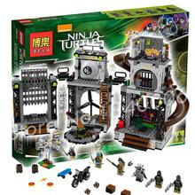 888 sztuk bela 10278 oryginalne pudełko prezenty zestaw teenage mutant żółw lair inwazji klocków zabawki kompatybilne z lego