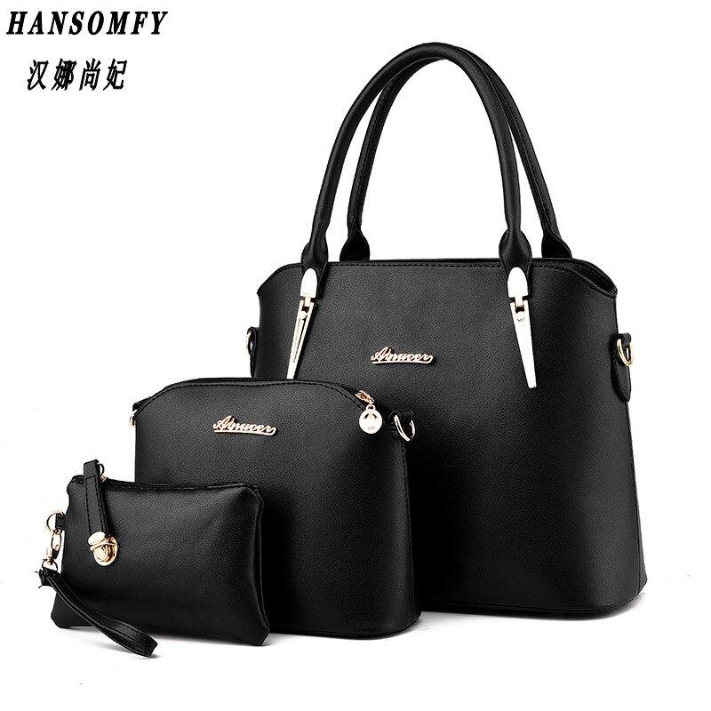 100 Genuine leather Women handbag 2019 New Three piece type fashion Crossbody Shoulder Handbag women messenger