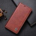 Genuíno do vintage de couro case para nokia lumia 950 xl 950xl luxo telefone flip fique capa de couro do couro