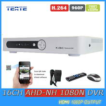 TEATE Safety AHD 1080N 16CH DVR Digital Video Recorder 16 Channel WIFI Hybrid safety surveillance DVR NVR 16ch 1080P HDMI