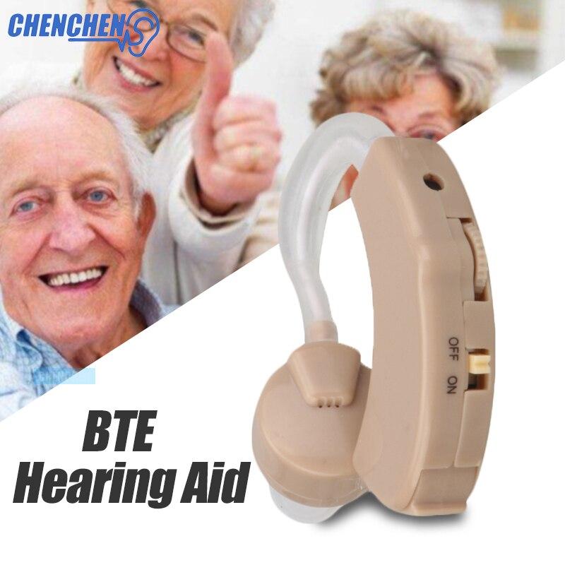 Cheapest Mini Digital Hearing Aid Behind Ear Amplifier Adjustable Hearing Aids For The Elderly Deaf Aparelho