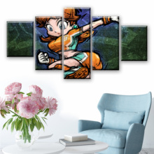 5 Piece HD Cartoon Wall Pictures Super Mario Bros Canvas Painting for Home Decor Modern Art Video Game Poster Decoration