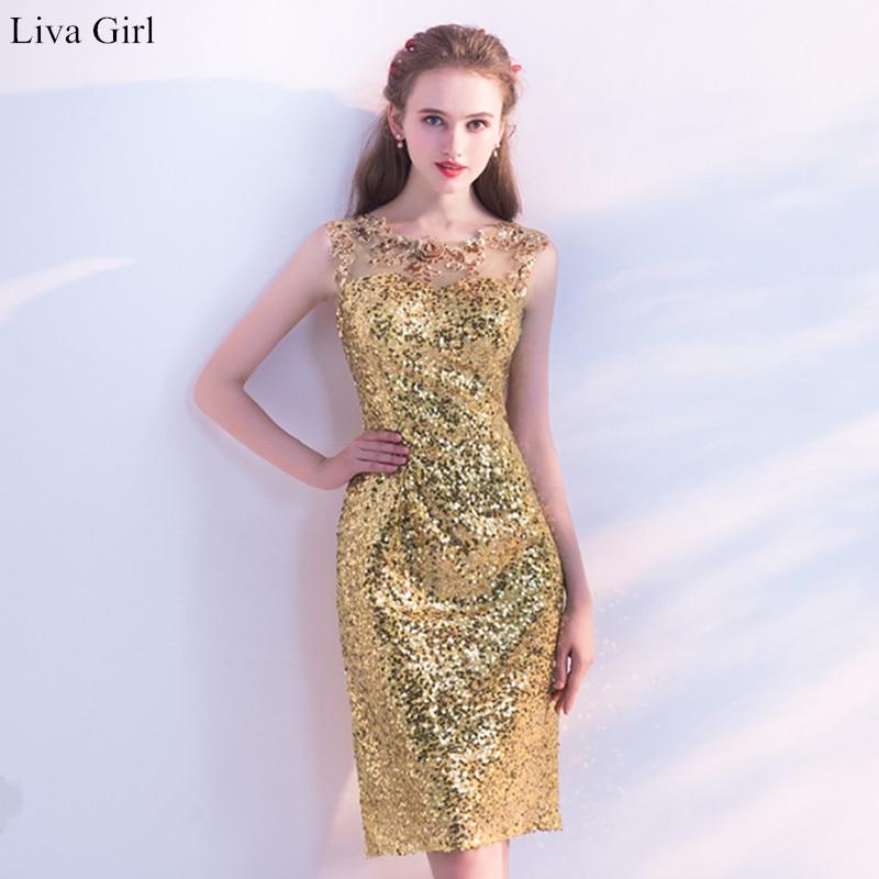 D'or D'été 011 Couleur Longueur Manches Robe Sans Courte Date Akn Taille Genou Personnalisée Gold Arrivée Femmes Élégant n5FfIZq