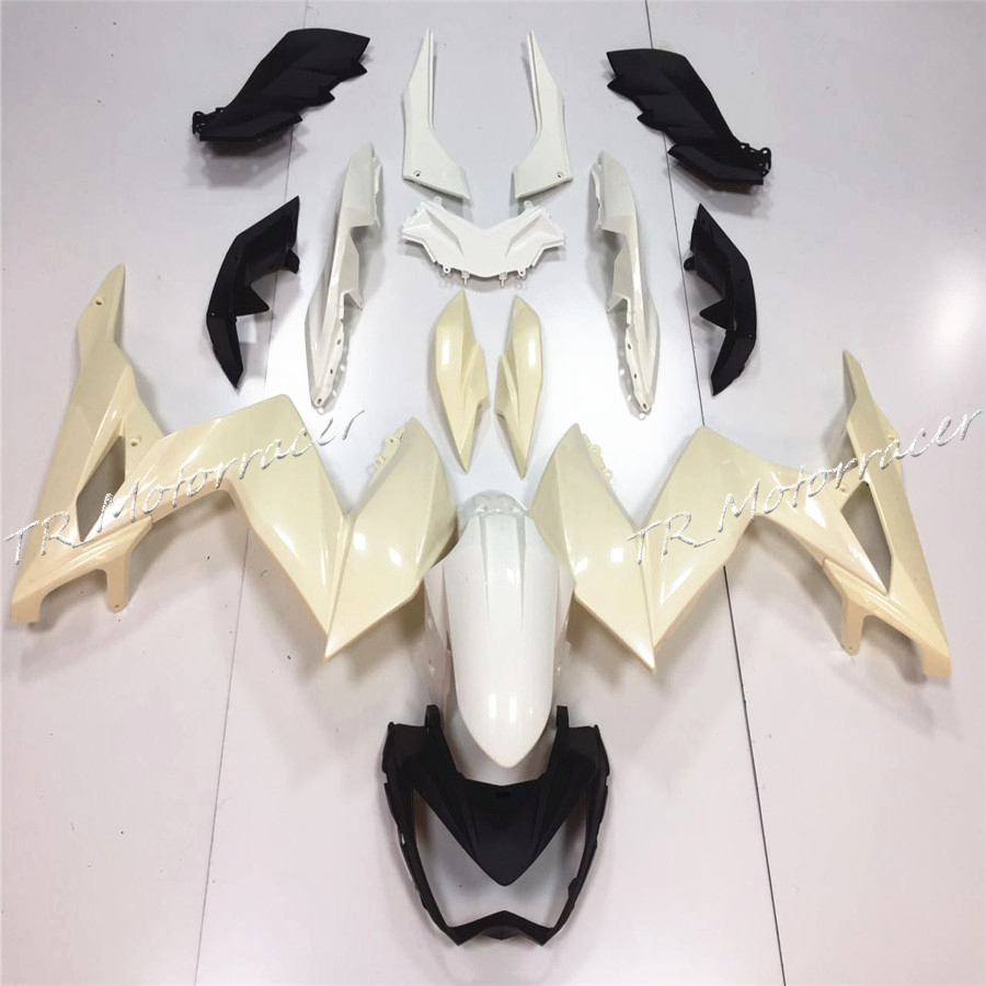 Motorcycle Accessories Unpainted White Injection Fairing Bodywork Kit For Kawasaki Z250 2015 ABS Plastic сливочник 250 мл white royal bone china сливочник 250 мл white