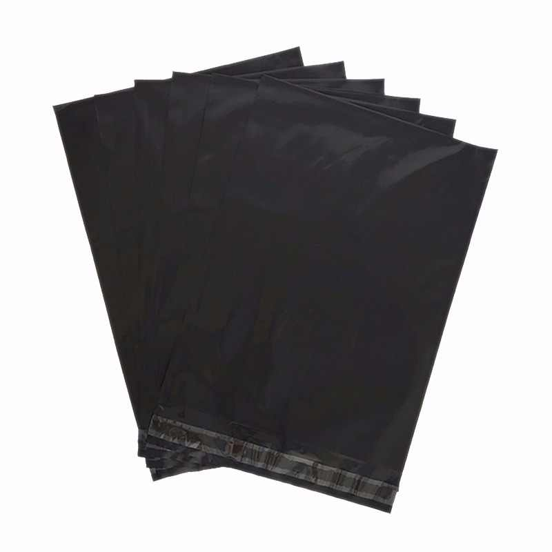 HARDIRON 0.06mm 200/100PCS Black Plastic Poly bags of Mail delivery on Seal self-adhesive plastic bag