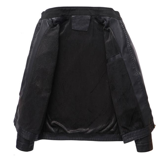 Mens Leather Jacket Brand høy kvalitet PU skinnjakke