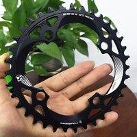 2019 quatoriers roda de bicicleta 96 bcd  roda dentada de velocidade única 34t 36t 38t  coroa dentada para mtb bicicleta mountain bike de estrada