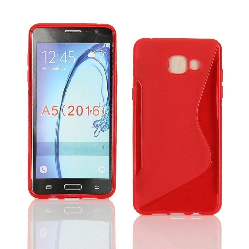 the latest 707fe 36c9c US $1.99 |Soft TPU Gel Clear S Line Back Skin Pouch Cover Case for Samsung  Galaxy A5 2016 High Quality-in Half-wrapped Case from Cellphones & ...