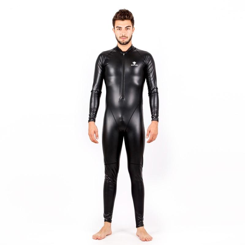 New PU Swimsuit Plus Size Swimwear Men 2017 Swim Suit Competition Bathing Suit Bodysuit Surfing Suits Wetsuit Black shark skin one piece swimsuit plus size swimwear women 2017 swim competition bathing suit bodysuit surfing suits wetsuit black