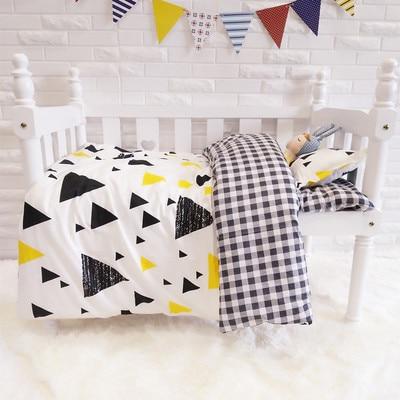 3PCS Cartoon  Baby Bedding Set Cartoon Toddler Bed Crib Set Cotton Safe Bumper,Duvet Cover/Sheet/Pillow Cover,