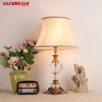 Luxuriou Table Lamp E27 Socket Ancient Garden European Style Bedside Lamp Bedside Lamp Living Room Decoration