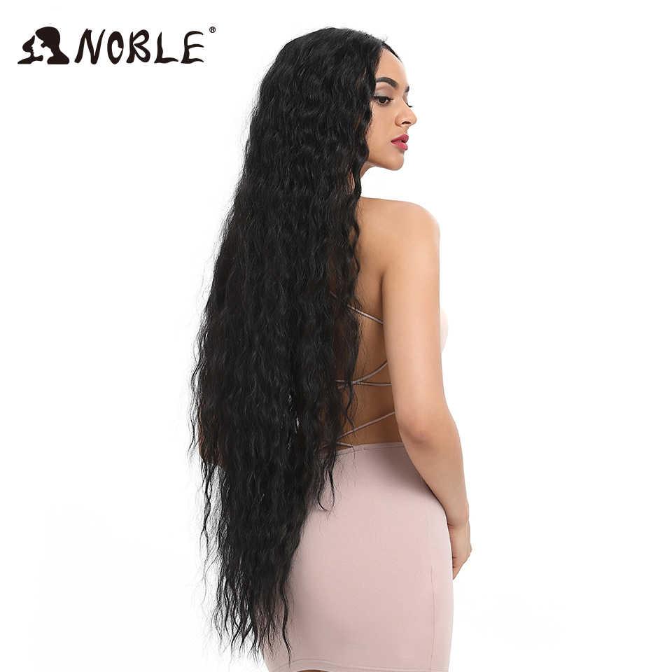 Noble Synthetische Lace Pruiken Voor Zwarte Vrouwen Lang Krullend Haar 42 Inch Cosplay Blond Ombre Lace Front Pruik Synthetische Kant voor Pruik
