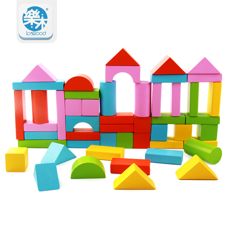Wooden 50Pcs Block Montessori Children Kids Toys Intelligence Early Educational Game The child's gift Free shipping Blocks learning education wood intelligence box montessori educational toys for children kids toy 13 holes shape sorter early toys