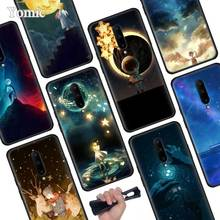 starry day anime Black Soft Case for Oneplus 7 Pro 7 6T 6 Silicone TPU Phone Cases Cover Coque Shell
