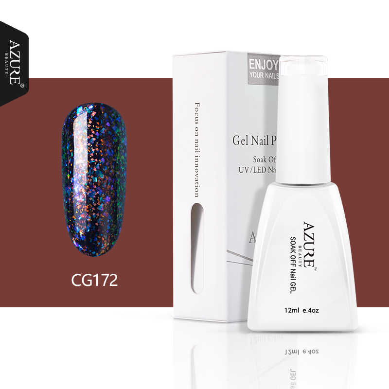 Azure Beauty Galaxy Kuku Gel Polandia Semi Permanen Chameleon Uv Gel Varnish Glitter Mengkilap LED Nail Enamel Gel