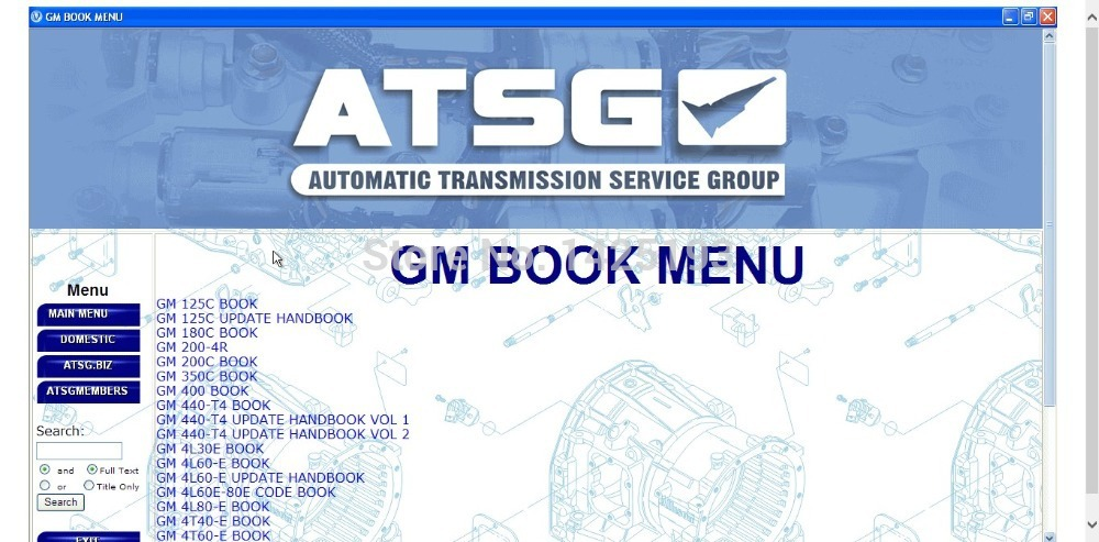 ATSG Automatic Transmission Service Group 2017-in Software from