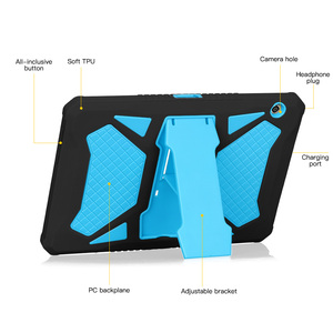 Image 3 - Сверхпрочный армированный чехол для Huawei MediaPad T5 10, чехол из силикона и поликарбоната для MediaPad T5 10, AGS2 W09, L09, L03, W19, чехол 10,1 дюйма