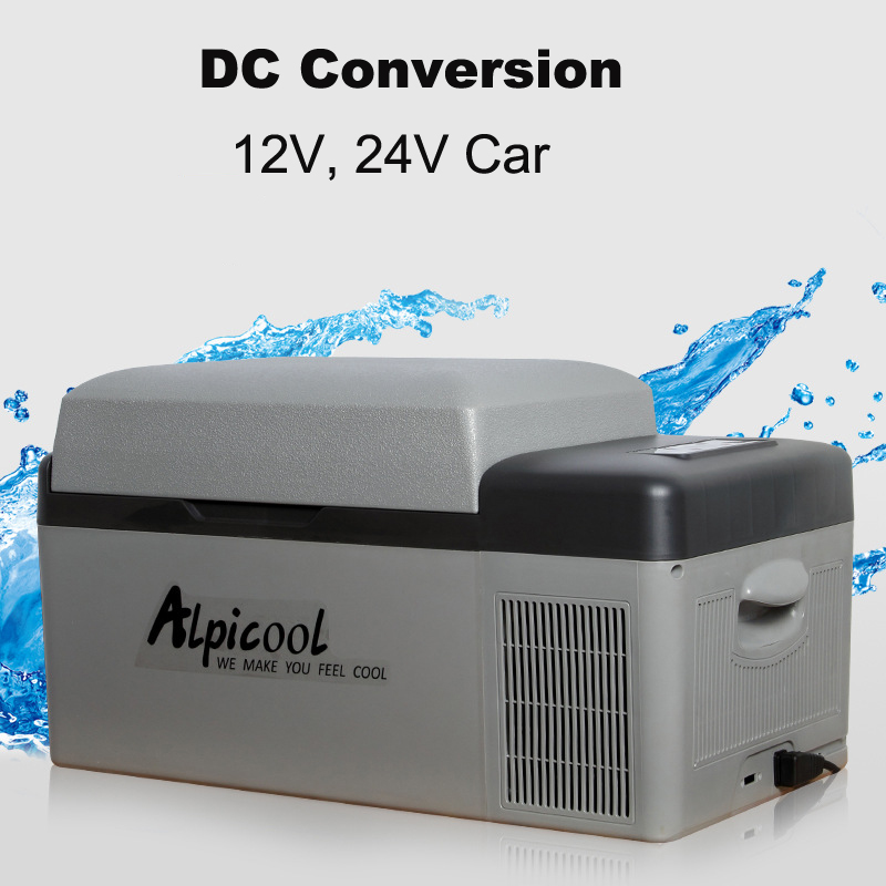 20L 57x32x32cm 12/24V Portable APP Conrtol Mini Car Refrigerator Freezer Home Camping Boating Caravan Bar Compressor Fridges(China)