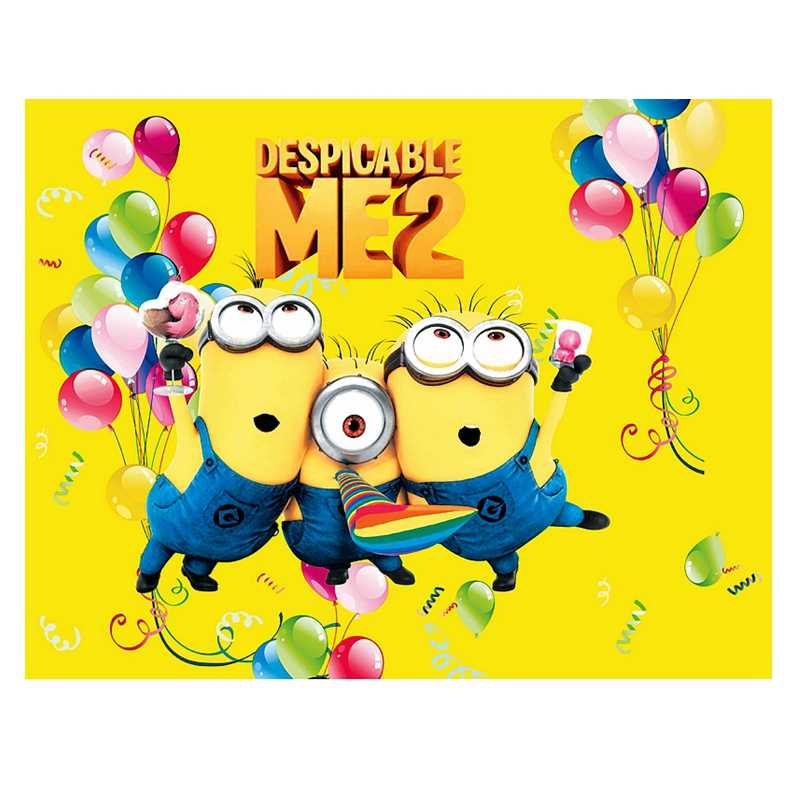Cartoon Disposable Tablecloth Despicable Me Minions Birthday Party Decoration Accessories Outdoor Plastic Picnic