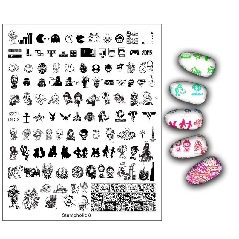 1 Pcs Große Größe Tier Muster Nagel Stanzen Platespainting Nail Art Schablone Vorlagen Maniküre Nagel Stempel Werkzeuge
