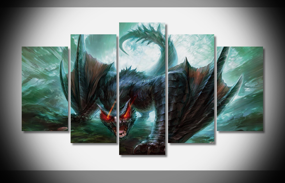 7094 10298 monster hunter poster Gerahmte Galerie wrap home wand ...