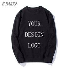 E-BAIHUI 2019 NEW DIY hoodies mens long casual and sweatshirts print your design logo men tops tees coat WD001