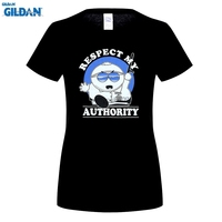 GILDAN Women Fashion Brand T Shirt Women Clothing South Park Cartwoman Respect My Authority T Shirt