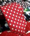 Para hombre Corbata de Seda Lazo del Muñeco de nieve de Navidad Rojo Blanco Novedad Accesorios de Navidad Hecho A Mano Corbata para Los Hombres 2017 Feliz Año Nuevo