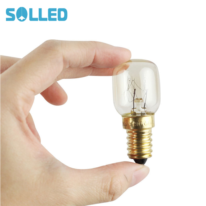 SOLLED 220v E14 300 Degree High Temperature Resistant Microwave Oven Bulbs Cooker Lamp Salt Light Bulb