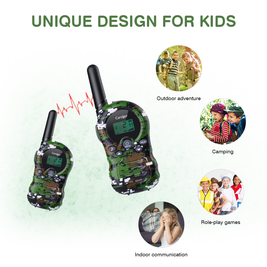 Lot of 2x Caroger 22/8 Channel Kids Walkie Talkies FRS/GMRS Two Way Radio