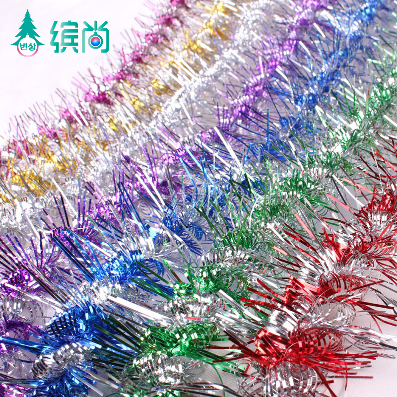 Free Shipping Divisa ssangyong christmas tree decoration pendant Christmas supplies garland color 2m