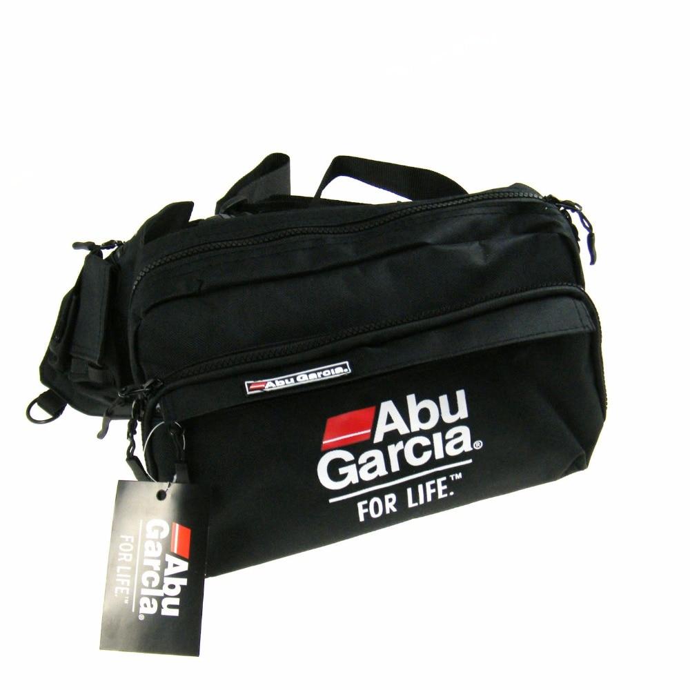 Hot 1pcs abu garcia waist tackle tackle bag pockets for Fly fishing luggage