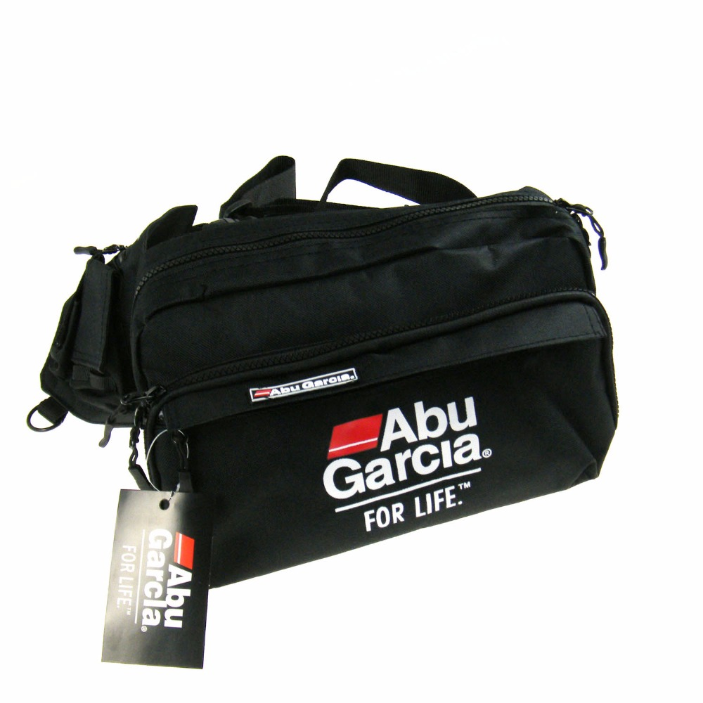 Hot 1PCS ABU GARCIA Waist Tackle Bag pockets font b Fishing b font Tackle Bags font