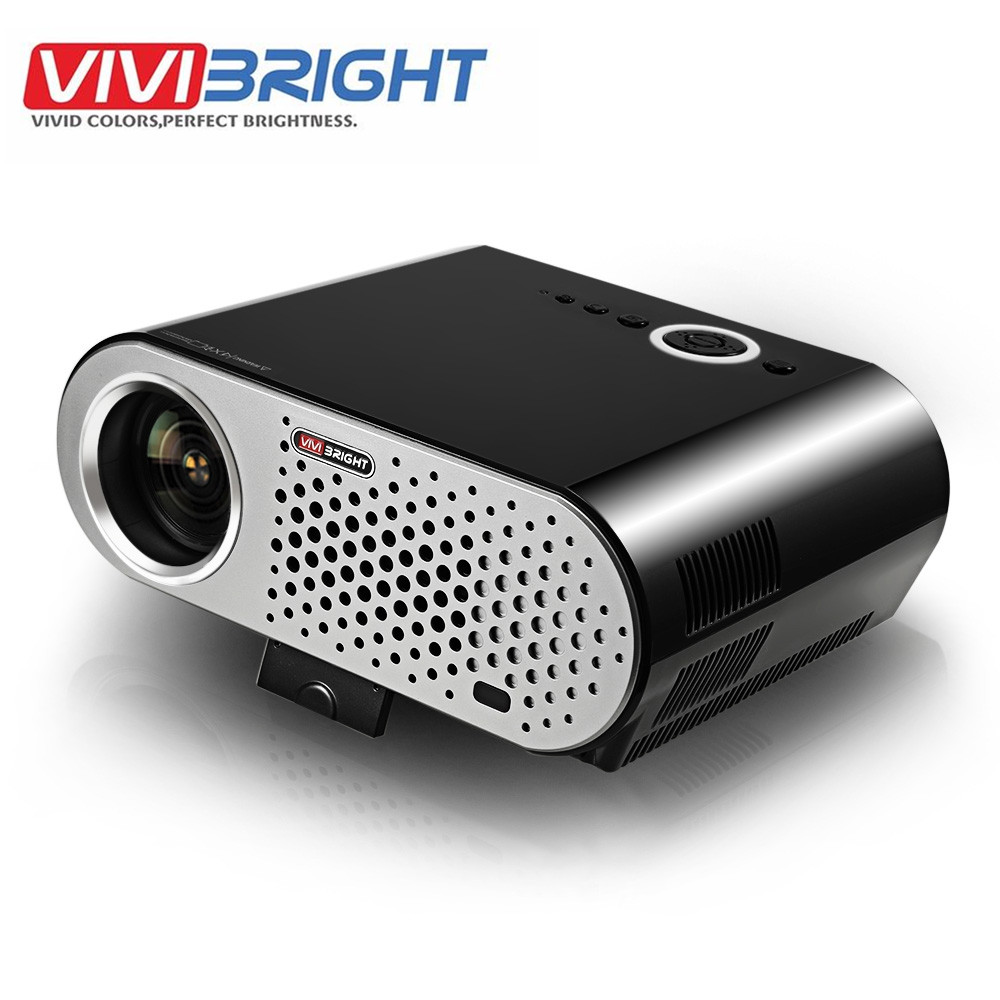 ViViBRiGHt GP90 1280 x 800 LCD Projector Smart Android Projector Cinema Home Theater 3200 Lumens Full HD 1080P HDMI VGA Wifi weshow v3 200lm 1280 x 800 rgb 3 color dlp hd mini 3d home projector w hdmi usb audio silver