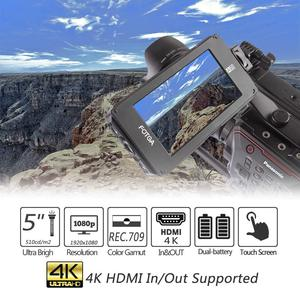 """Image 2 - Fotga DP500IIIS A50 5 """"Fhd Video On Camera Field Monitor Touch Screen 1920X1080 700cd M2 Hdmi 4K Voor F970 A7 GH5"""