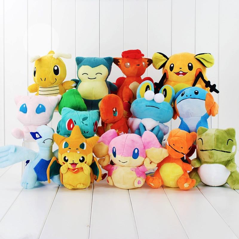 1pcs go plus Charmander Dedenne Vulpix Dragonite Froakie mudkip Substitute Venusaur plush stuffed toy doll free shipping