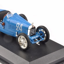 Diecast 1/43Blue Bugatti T35B Grand Prix Sport 1928 Louis Chiron Classic Car Cheap Kids Toys